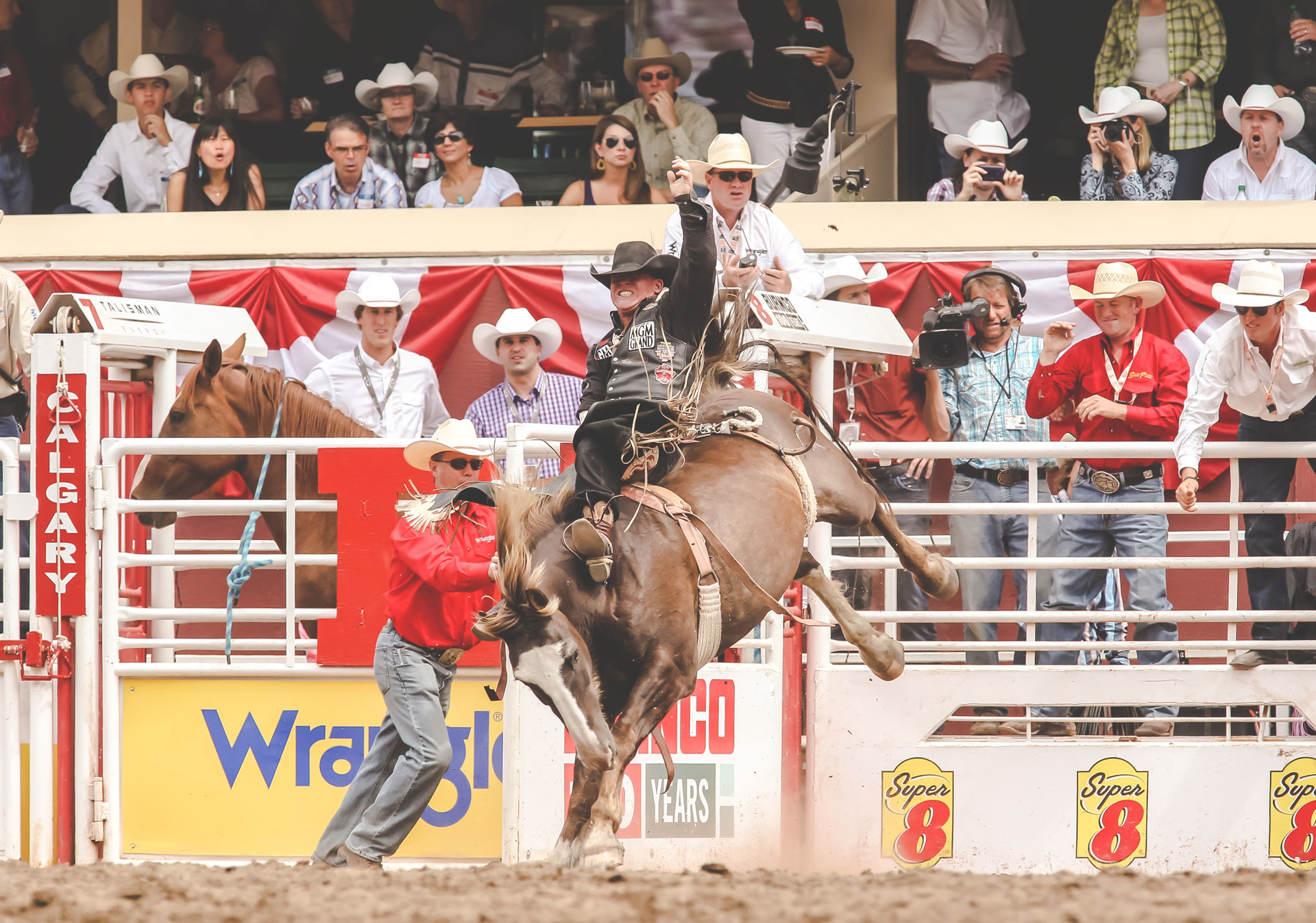 The Calgary Stampede Rodeo includes 9 exciting events.